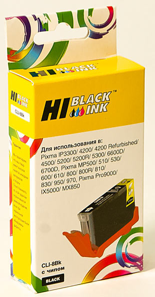 Картридж Hi-Black (HB-CLI-8Bk) для Canon PIXMA iP4200/iP6600D/MP500, Bk