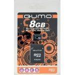 Карта флэш-памяти MicroSD 8 Гб Qumo +SD адаптер (class 10)