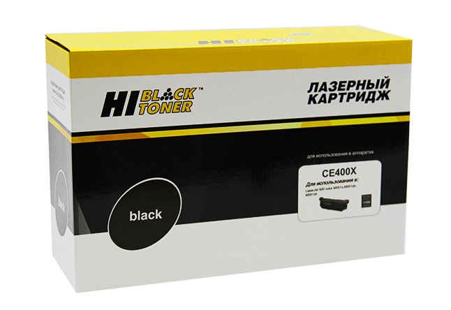 Картридж Hi-Black (HB-CE400X) для HP LJ Enterprise 500 color M551n/M575dn, Bk, 11K