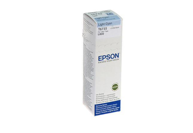 Чернила Epson L800/L1800/L810/L850  C13T67354A, light cyan, 70ml