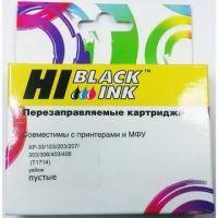 Перезаправляемый картридж Hi-Black (HB-T1714) для Epson XP-103/XP-207, Y, пустой, с чипом