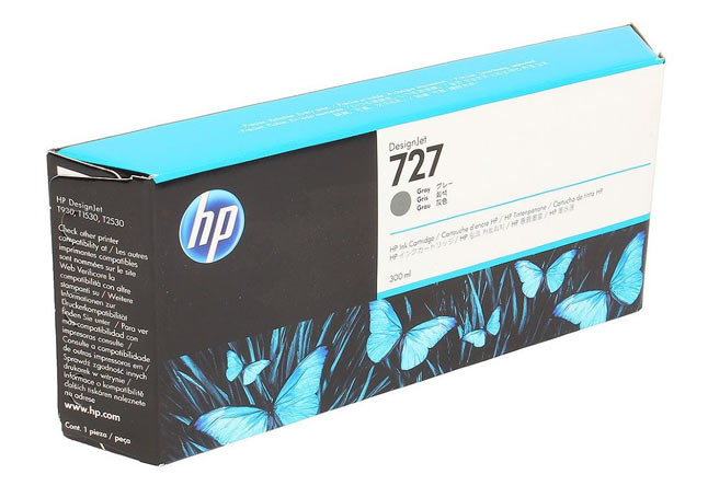 Картридж 727 для HP DJ T920/T1500, 300ml  Grey F9J80A